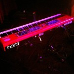 The Nord Stage Eighty-Eight... Weapon of choice for Chicago. (Feb. 2012)