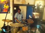 Tim Scott Jr. laying drums down for the 'ManMade' album. (Aug. 2012)