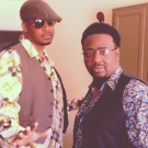 "Me and Phonte before the ""Count To Five"" video shoot"