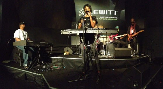 With Sy Smith performing at NAMM (Jan 2013)
