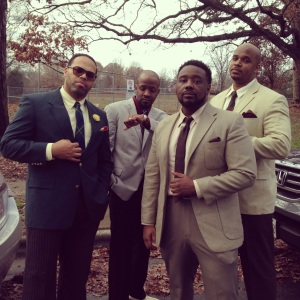 Eric Roberson, Darion Alexander, Phonte, and I on set in NC (Dec. 2013)