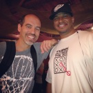 "Me and Bobbito at the D.C. showing of his street ball documentary, ""Doin' It In The Park"" (May 2013)"