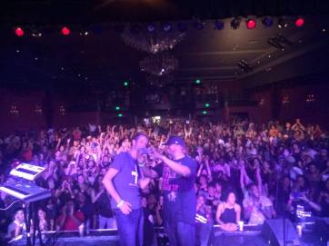 Me and Nicolay setting up to take a crowd pic in LA   Photo by Nick Baglio
