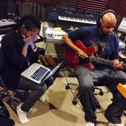 Recording with Ideeyah at my studio