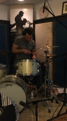 """Nick Baglio recording drums on """"For Pops"""" in Raleigh, NC • 02.18.16"""