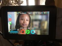 My sister, Kinyel filming for the 'SkyBreak' Documentary • 04.23.16