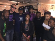 +FE Crew with Jellybean Johnson and his daughter who brought him backstage to meet everyone, in Minneapolis, MN • 06.01.16