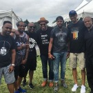 Spinna, Raheem, Jazzy Jeff, Erro (with his Liner Notes tee), D-Nice, Rich Medina and DJ Eddie F